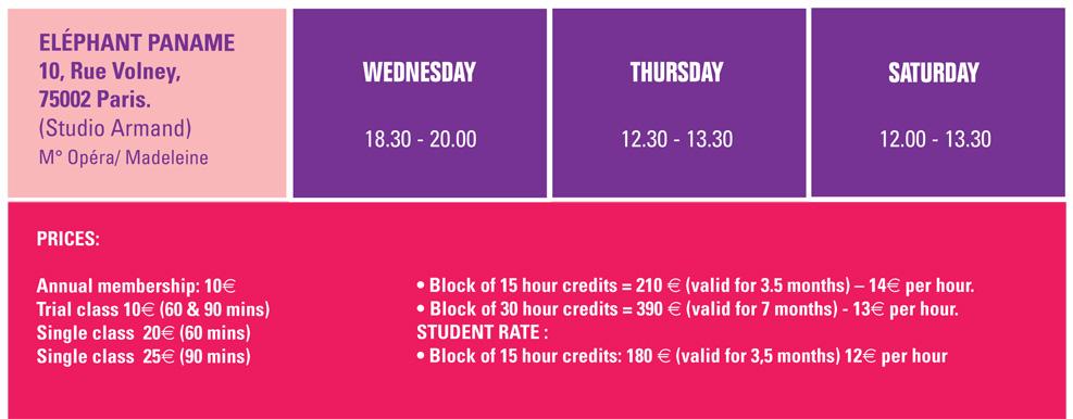 YPN_Class Timetable